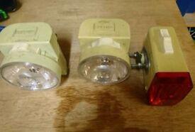 Vintage bicycle lamps.