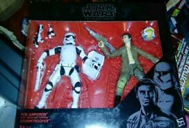 Star wars black series Poe and Stormtrooper double pack