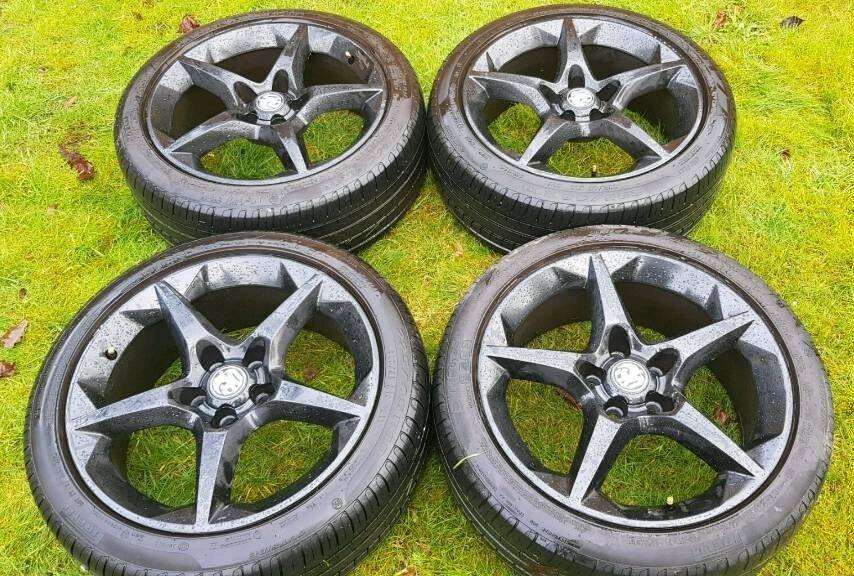 "Vauxhall Astra Sri XP pack Pentagon Alloys 18"" - 225/45 - Gloss black - mint - £260"