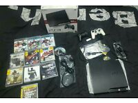 Ps3 slim 160gb 11 games 2 controllers