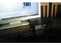 Dell optilex mini PC and LED TV for sale