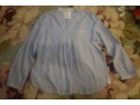 Ladies Next blue and white stripe tunic blouse size 18