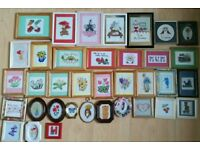 Cross Stitch in frames x 36 items