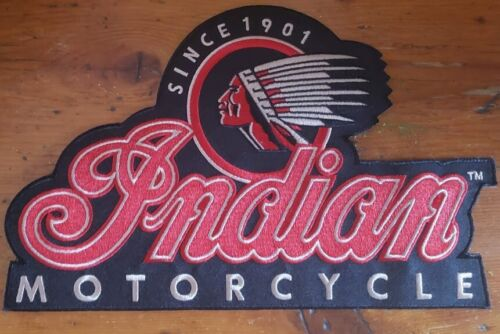 INDIAN MOTORCYCLE LARGE Back Patch Iron On Embroidered FREE SHIPPING