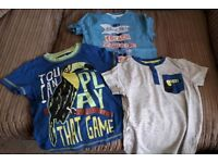 3 boys t-shirts size 3-4 years