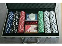 Poker set with carry case