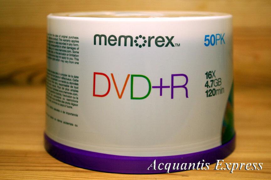 Диски 50 Memorex 16X DVD + r 4,7 ** BRABD **