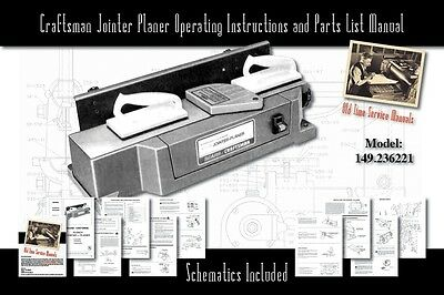 Craftsman 4.125 Jointer Planer Series 149.236221 Parts List User Manual