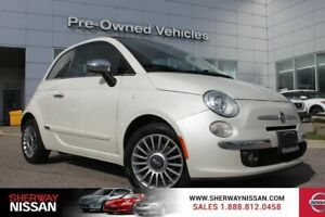2013 FIAT 500c lounge trade with only 68000 kms. Clean carfax!