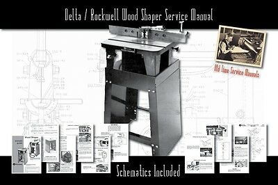 Deltarockwell Wood Shaper Owners Service Manual Parts Lists Schematics Etc.