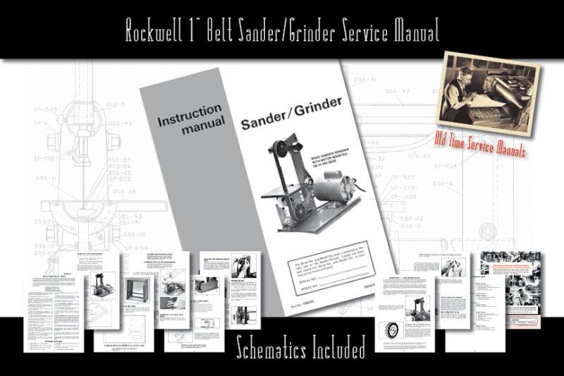 """Rockwell 1"""" Belt Sander/Grinder Owners Manual"""