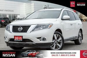 2015 Nissan Pathfinder platinum package. Priced to sell, make an