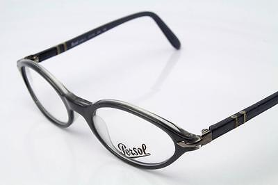 New Persol 2596-V Eyeglasses Frames Grey Clear 240 Authentic 47mm FOR (Eyeglasses Frames For Kids)