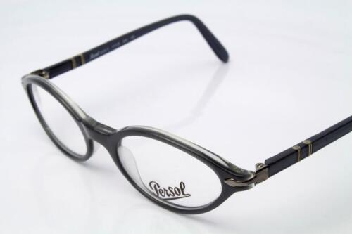 New Persol 2596-V Eyeglasses Frames Grey Clear 240 Authentic