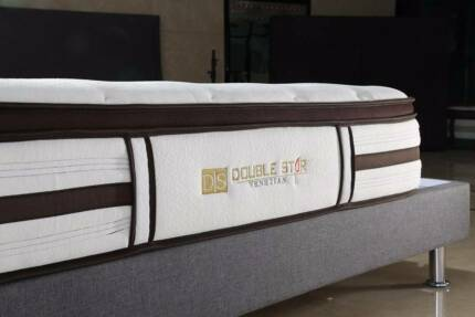 【Brand New】Venitian knitting fabric latex pocket spring mattress