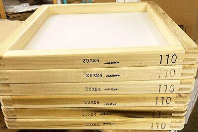 6 Pack 20x24 Wood Screen Printing Frame W 110 Mesh 2024110