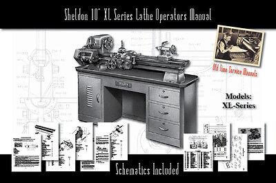 "Sheldon 10"" Lathe XL Series Service Manual Parts Lists Schematics"