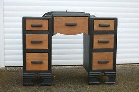 Old Retro Desk Dressing Table Drawers