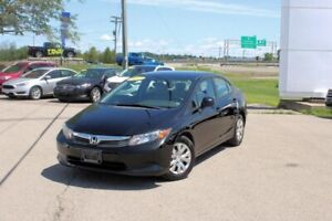 2012 Honda Civic Sdn LXFUEL SIPPER!!! MANUAL!!! CRUISE!!! MUST D