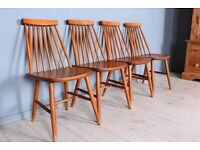DELIVERY OPTIONS - SET OF 4 1960s ERCOL STYLE CHAIRS, WITH MARKS