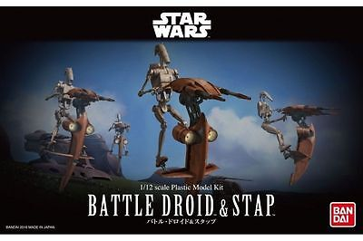 Star Wars Plastic Model Kit 1/12 BATTLE DROID & STAP Bandai Japan NEW **