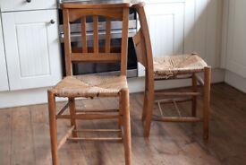 Pair church chairs