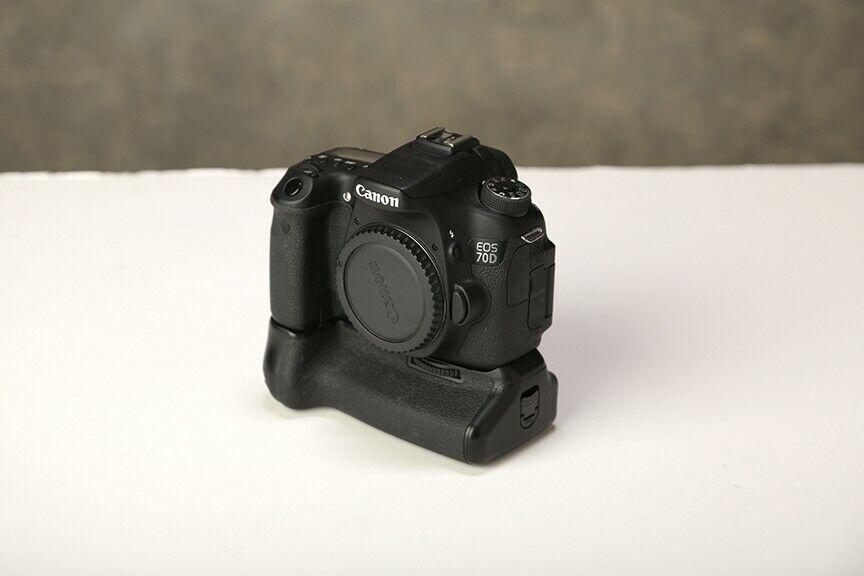 Canon EOS 70D 20.2MP Digital SLR Camera - With Vello Battery Grip - $400.00