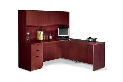 2 L Shape Office Furniture Desks With 2 Sets Of Drawers