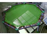 Kids childrens trampoline green and purple small
