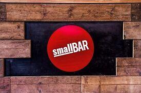 Small Bar Full & Part Time Bar Staff