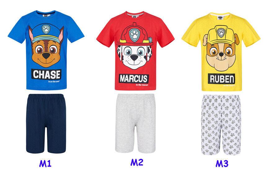 Kinder Jungen Schlafanzug Kurzarm  Sommer  Paw Patrol Shorty Gr 98-128 NEU