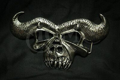 ACME DANZIG KISS SKULL belt  BUCKLE  SAMHAIN  MISFITS not obey evil 666
