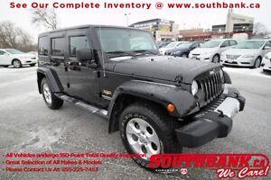 2015 Jeep Wrangler Unlimited SaharaGPS, HTD Seats, Premium Audio