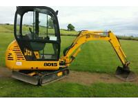MINI DIGGER and OPERATOR FOR HIRE £20 per hour