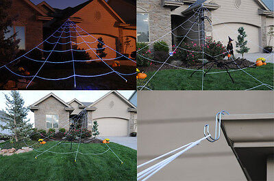 Mega Huge Giant Large Outdoor Yard 23' Spider Web Halloween Spooky Scary - Halloween Mega Spider Web