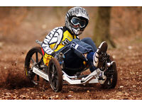 Trike. High performance recumbent trike for children and adults