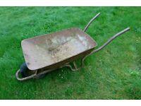 Large Antique Vintage Metal Wheelbarrow 80 / 90 litre