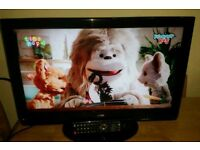 23 inch logik LCD TV with built-in Freeview complete with the remote