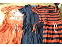 3 pairs of M&S 6-7 year old short pyjamas