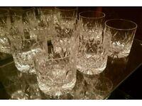 Stuart Cut Crystal Whisky Tumbler Glasses x 6