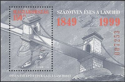 HUNGARY 1999 CHAIN BRIDGE/BRIDGES//PADDLE-STEAMER/BOATS/TRANSPORT 1V M/S  N45185