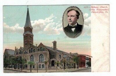 Usado, PA Philadelphia Pennsylvania antique post card Bethany Church & John Wanamaker segunda mano  Embacar hacia Argentina