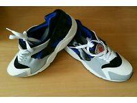 Nike air huarache mens ladies black Blue trainers shoes size 9 new