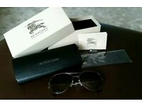 Women's Burberry aviator sunglasses