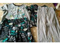 Two pairs of Tu at Sainsbury's 6-7 year old pyjamas