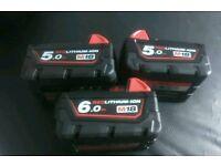 Milwaukee batteries