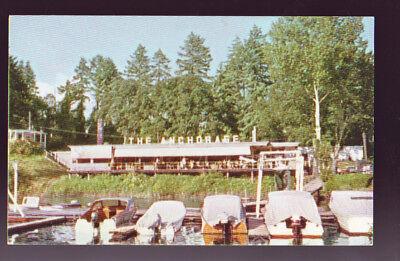 PORTLAND OREGON OR The Anchorage Riverside Restaurant Boats Vintage Postcard