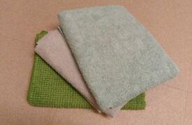 1 bathmat + 2 towels