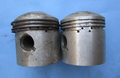 VINTAGE ENFIELD INDIAN TOMOHAWK MOTORCYCLE PISTONS NOS .030 .020 500cc TWIN CYL.