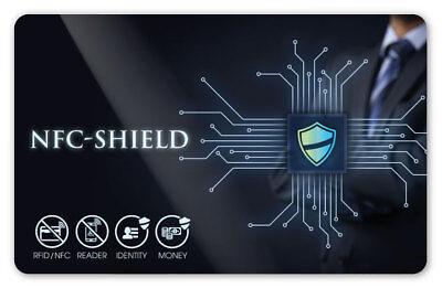 NFC Shield Card - RFID & NFC Blocker Karte für EC & Kreditkarten - Ultradünn